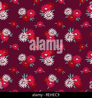 Dessiné à la main motif fleurs transparente Banque D'Images