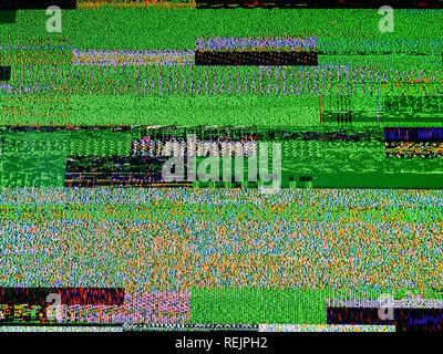 Le bruit de la télévision numérique sur un grand écran OLED plasma 4K Ultra HD High Dynamic Range HDR Smart TV Banque D'Images