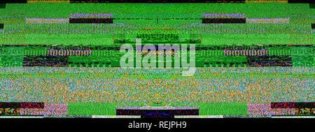 Le bruit de la télévision numérique sur un grand écran OLED plasma 4K Ultra HD HDR (High Dynamic Range image large Smart TV Banque D'Images