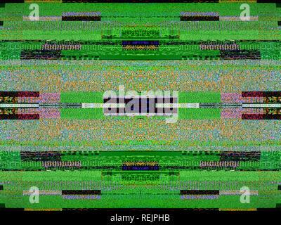 Le bruit de la télévision numérique sur un grand écran OLED plasma 4K Ultra HD HDR (High Dynamic Range image carré Smart TV Banque D'Images
