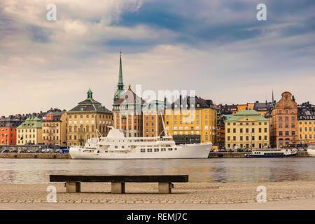 La Suède, Stockholm City skyline à Gamla Stan et Slussen