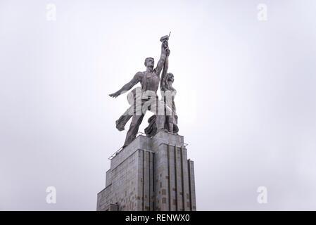 Monument Travailleur et exploitation collective femme à Moscou en Russie. Jour 15 Janvier 2019 Banque D'Images