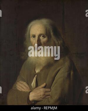 Portrait d'un vieux homme. Dating: 1639. Dimensions: H 71 cm × 55 cm; w d 9 cm. Musée: Rijksmuseum, Amsterdam. Auteur: Simon Kick. Banque D'Images
