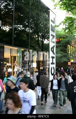 ... Boutique Chanel, rue commerçante, l avenue Omotesando Aoyama, Tokyo,  Japon, 0668a3415cc