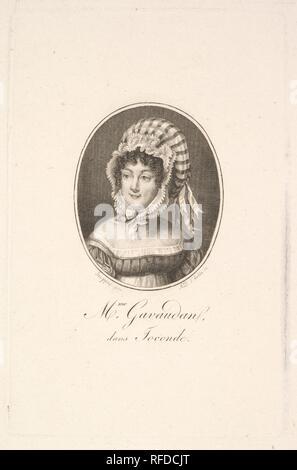 Portrait de madame Gavaudan. Artiste: Augustin de Saint-Aubin (français, Paris 1736-1807 Paris). Fiche Technique: Dimensions: 13/16 9 × 7 5/16 in. (25 × 18,6 cm) Plaque: 5 × 3 13/16 3/4 in. (14,8 × 9,6 cm). Musée: Metropolitan Museum of Art, New York, USA.
