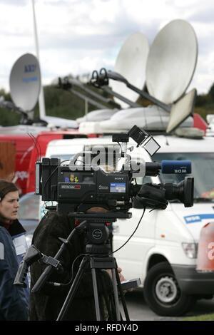 Unité de diffusion extérieure, l'équipage de l'appareil photo, Bochum, Rhénanie du Nord-Westphalie, Allemagne Banque D'Images