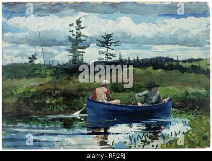 Le bateau bleu. Date/période: 1892. La peinture. Aquarelle et crayon sur papier. Hauteur: 38,6 cm (15.1 in); Largeur: 54,6 cm (21,4 in). Auteur: Winslow Homer. WINSLOW HOMER,.