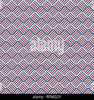 Résumé rouge, bleu et blanc motif transparent bandes contexte comment utile Banque D'Images