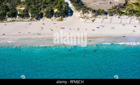 L'Anse de Grande Saline, ou salines Plage, Saint Barthélemy ou St Barths ou St Barth, mer des Caraïbes Banque D'Images