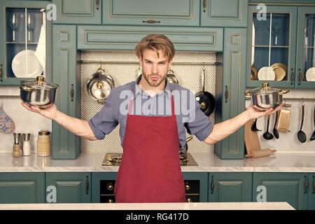 Batterie de cuisine, des outils, ustensiles de cuisine batterie de casseroles Banque D'Images