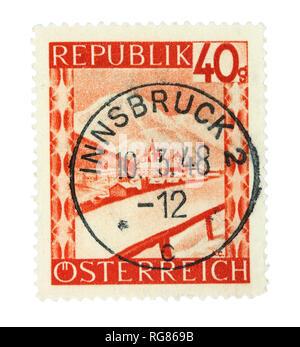 Timbre ancien de l'Autriche. Annulé à Innsbruck en 1948.