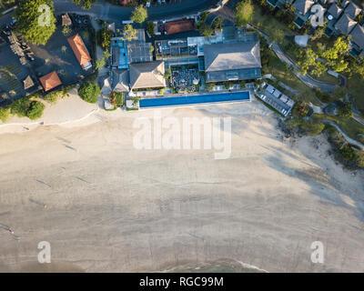 L'INDONÉSIE, Bali, vue aérienne de la plage de Jimbaran Banque D'Images