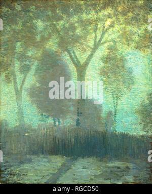 De Lune. En date du: ch. 1905. Dimensions: hors tout: 61 x 50,8 cm (24 x 20 in.): 81,6 x 71,8 encadré x 7,3 cm (32 1/8 x 28 1/4 x 2 7/8 in.). Médium: Huile sur toile. Musée: National Gallery of Art, Washington DC. Auteur: Julian Alden Weir. Banque D'Images