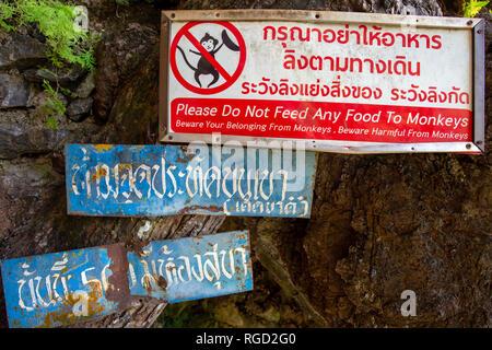 Le Tiger Cave Temple ou Wat Tham Suea est un temple bouddhiste près de la ville de Krabi à Krabi, Thaïlande. Un site sacré, il est connu pour le Tiger Paw prints dans