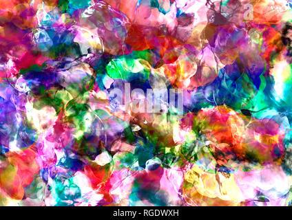 Abstract wallpaper texture de couleur vive. En couleur, avec le verre et l'effet peinture éclaboussé. Banque D'Images