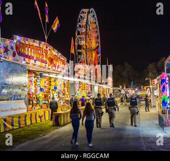 Nuit au Manatee County Fair au Manatee County Fairgrounds dans la région de Palmetto en Floride Banque D'Images