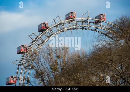 Grande Roue au parc d'attractions Prater, Vienne, Autriche.