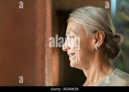 Profile of senior woman