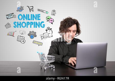 Concept d'achat en ligne Banque D'Images