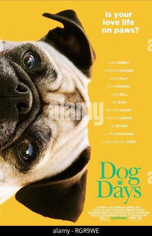 Affiche de film DOG DAYS (2018) Banque D'Images