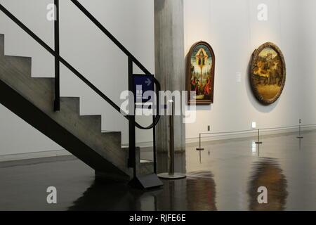 Vue d'une galerie de Tokyo, Musée National d'art occidental. Banque D'Images