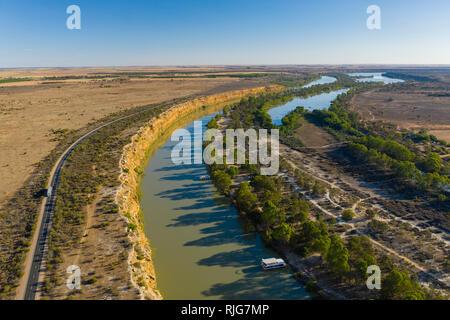 Vue aérienne de la rivière Murray en Australie du Sud