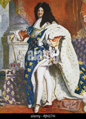 Illustration du roi français, Louis XIV (1638 - 1715) Banque D'Images