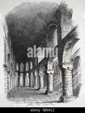 Une gravure représentant une chapelle dans la Tour de Londres. En date du 19e siècle Banque D'Images