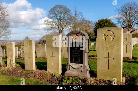 Portsdown (Christ Church) Cimetière militaire, London Road, and Widley, Portsmouth, Hampshire, England, UK Banque D'Images