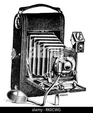 Vintage ancien rouleau de film appareil photographique - cela a été rendu par Kodak Banque D'Images