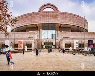 2 décembre 2018: Shanghai, Chine - Le Musée de Shanghai l'entrée principale. Banque D'Images