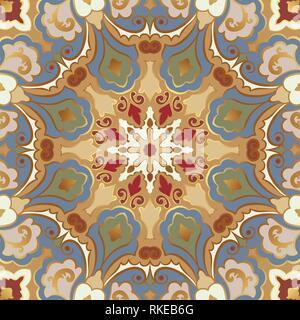 Modèle vectoriel continu avec des mandalas. L'Est de l'ornement brillant avec de l'or contour.