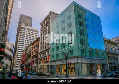 Rues autour de Union Square. San Francisco. La Californie, USA Banque D'Images