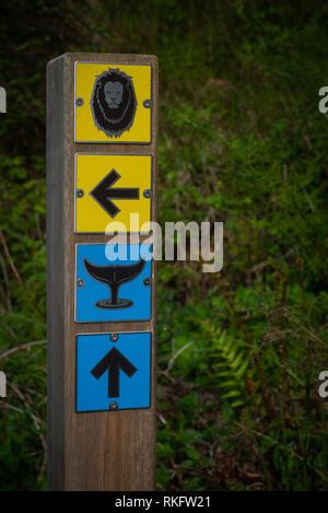 Directions sur un chemin menant aux animaux