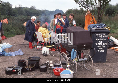 Greenham Common Women's Peace Camp Banque D'Images