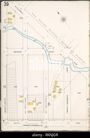 12 C. de Brooklyn, la planche no 39 [Plan délimité par Stillwell Ave., Bay St., 46e Avenue, 26th Ave. baignoire]. Sanborn Map Company (éditeur). De nouveaux Atlas