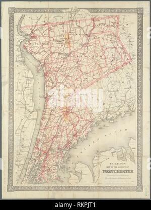 Colton's site du comté de Westchester Autre titre: Carte du comté de Westchester titre supplémentaire: Colton's road map de Westchester