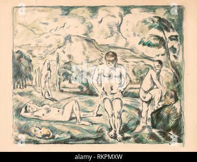 Les grandes baigneuses - 1896-c. 1898 - Paul Cézanne (Français, 1839-1906) imprimé par Auguste Clot (Français, 1858-1936) - Artiste: Paul Cézanne, origine: France,