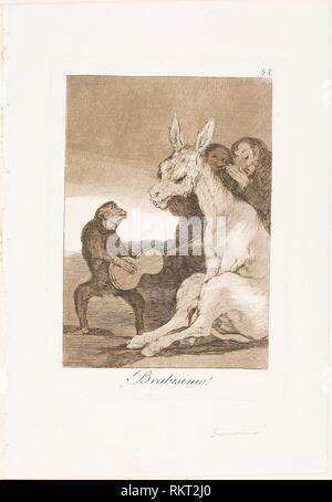 Bravo!, Los Caprichos de plaque 38 - 1797/99 - Francisco José de Goya y Lucientes espagnol, 1746-1828 - Artiste: Francisco José de Goya y Lucientes, Banque D'Images