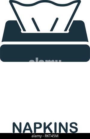 L'icône de serviettes. Style de design premium collection icônes de l'hygiène. Serviettes pour l'icône parfaite Pixel web design, applications, logiciels, l'utilisation d'impression
