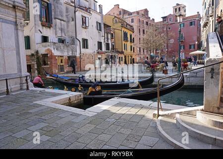 Quartier Cannaregio. Venise, Vénétie, Italie, Europe. Banque D'Images