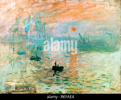 Impression, Sunrise par Claude Monet, 1872, peinture Banque D'Images