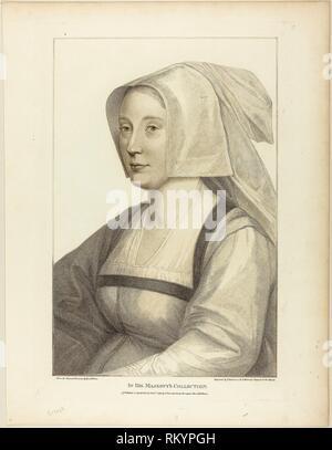 Portrait d'une femme - 1 janvier 1798 - Francesco Bartolozzi (italien, 1727-1815) après Hans Holbein le jeune (allemand, 1497-1543) - Artiste: Banque D'Images