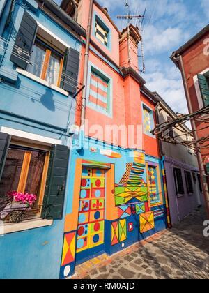 L'architecture, l'île de Burano, Venise, Italie Banque D'Images