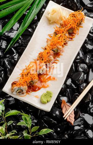 Ensemble de sushi maki Banque D'Images