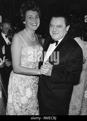 Marianne et Franz Josef Strauss quand la danse. Banque D'Images