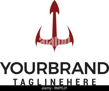 Logo ancre modèle. Vecteur Conception Marine modèle concept Banque D'Images