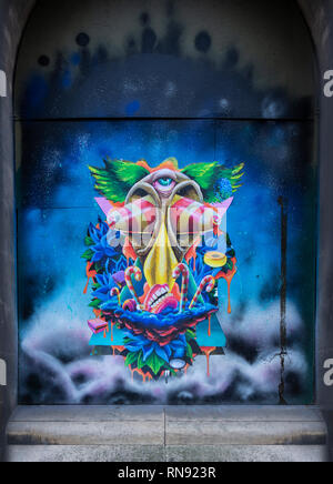 BRISTOL, Royaume-Uni - 16 février 2019: , Street Art , Bristol Bristol England, UK Banque D'Images