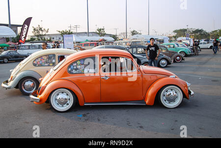 Bangkok, Thaïlande - le 9 février 2019: Vintage Volkswagen Volkswagen à club meeting au Siam festival VW