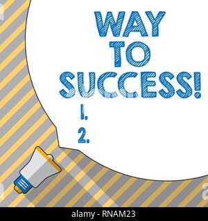 Signe texte montrant manière au succès. Photo conceptuelle sur la bonne voie pour réussir l'atteinte des buts des rêves Banque D'Images